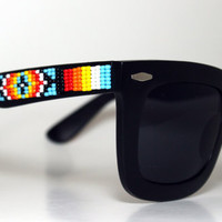 Beaded Sunglasses Bold Wayfarers