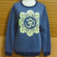 yoga apparel Indian Winter T-Shirt India American Sweater Mandala T-Shirt  Om Hindi Yoga Peace Shirt Crew neck Sweatshirt  S M L XL XXL