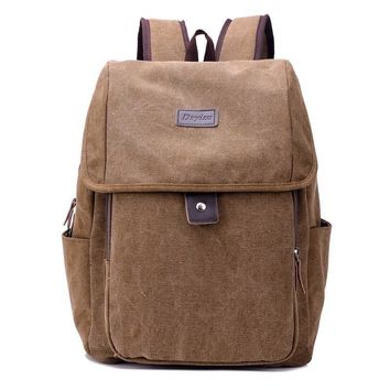 2017 man backpack retro style canvas game leather backpack men's computer notebook backpack school bag teenage backpack zipper