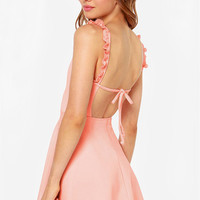 Tie-Back Summer Dress in White or Pink