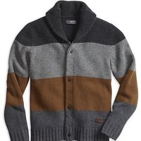 Dockers Blanket Shawl Collar Cardigan - Grey - Men's