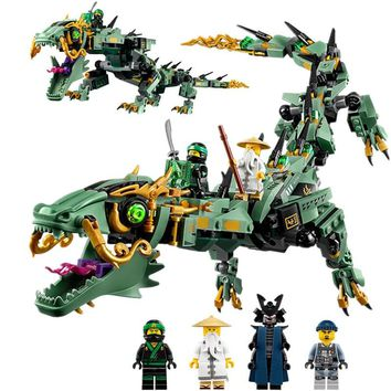 2018 31072 new Compatible  Legoings 70612 The Legoings Ninjagoe Movie Flying mecha dragon 568Pcs Building Blocks Toys