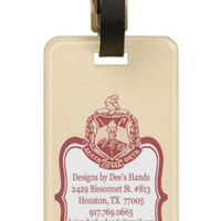 Delta Sigma Theta Sorority Personalized Luggage Tag or Briefcase Tag