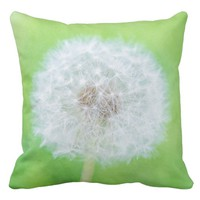 Dandelion - Just Woke Up Beauty Throw Pillow