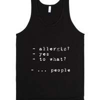 allergic-Unisex Black Tank
