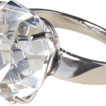 """Ring Paperweight - 4"""" w/Clear Gemstone"""