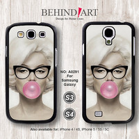 Samsung Galaxy S4 case, Samsung Galaxy S3 case, Phone Cases, Phone Covers, Skins, Case for Samsung, Marilyn Monroe-A0291