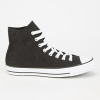 Converse Chuck Taylor All Star Sparkle Knit Hi Shoes Black  In Sizes
