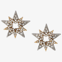 Pave Star Stud Earrings from EXPRESS