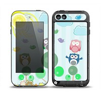 The Colorful Emotional Cartoon Owls in the Trees Skin for the iPod Touch 5th Generation frē LifeProof Case