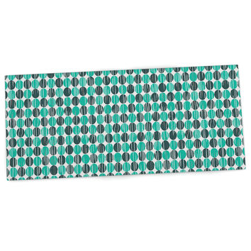 "Michelle Drew ""Distressed Circles"" Teal Aqua Desk Mat"