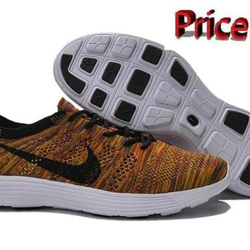 nike shoes men's casual Nike HTM Flyknit Trainer+ Multi Color 535089 009 shoes