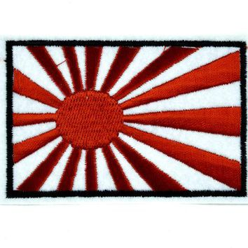 ac spbest Japanese Rising Sun Patch Iron on Applique Anime Clothing