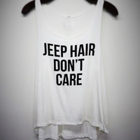 Jeep hair dont care Graphic tank top