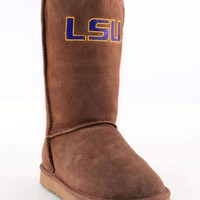 Gameday Lsu Ladies Sheepskin Roadie Boots - Hickory