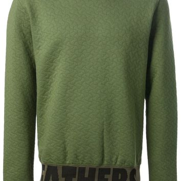 Raf Simons Sterling Ruby quilted effect sweatshirt