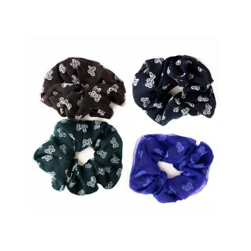 butterfly layered chiffon hair scrunchie Case of 24