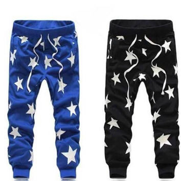 Black|Blue(Unisex)Star Joggers