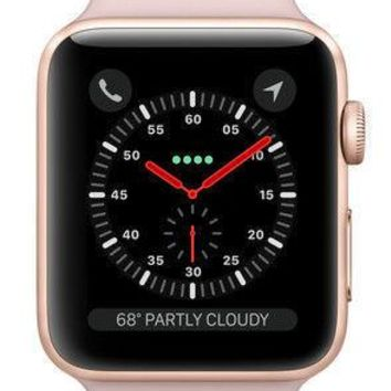 Apple Watch Series 3 38mm Gold Aluminium Case with Pink Sand Sport Band (GPS...