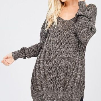 Knit Cross Back Sweater