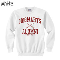 PART 1 - Hogwarts Alumni Harry Potter White Crewneck Sweatshirt Size MEDIUM
