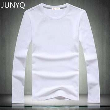 Free shipping 2017 Brand clothing Blank T-shirts long sleeved casual T-shirt 100% cotton men t shirts