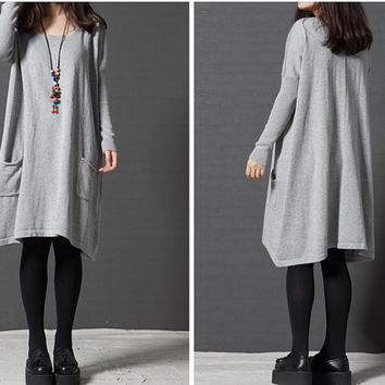Women long sweaters, sweater dress, christmas sweater, sweaters for women, long sweater coat, women loose sweater (ESR105)