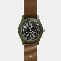 1960s US Vietnam Military Watch - Olive with Khaki Strap