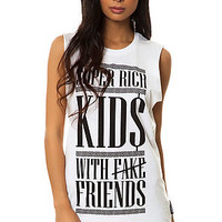 The Super Rich Kids Tee in Black and White