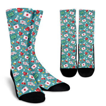 Nurse Pattern Socks
