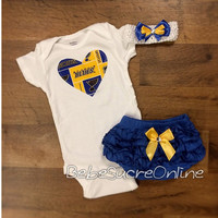 St Louis Blues Outfit and Headband