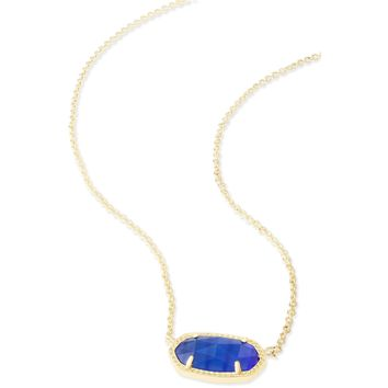 Kendra Scott: Elisa Pendant Necklace In Cobalt Cat's Eye