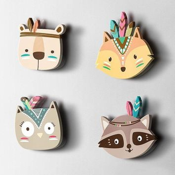 3D Woodland Animal Wall Prints