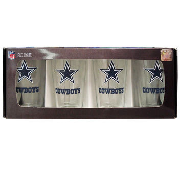 4 Pack Pint Glass NFL - Dallas Cowboys