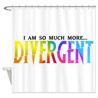 Divergent Colorful Shower Curtain - Girl Tease
