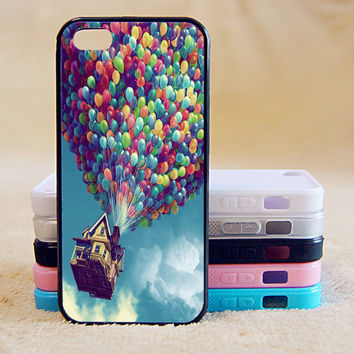Baloons,Pixar, UP,Custom Case, iPhone 4/4s/5/5s/5C, Samsung Galaxy S2/S3/S4/S5/Note 2/3, Htc One S/M7/M8, Moto G/X
