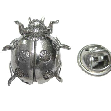 Silver Toned Ladybug Bug Insect Lapel Pin
