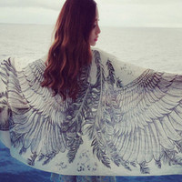 Aoki Fashion - Angel Wings Fashion Long Scarf