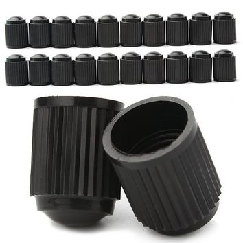 Bicycle Tool CYCLE ZONE 20pcs Black Plastic Auto Car Bike Motorcycle Truck wheel Tire Valve Stem Caps Robust design Apr27