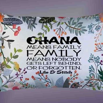 "New Ohana Means Family Quote Custom Pillow Case 16""x24"" Limited Edition"