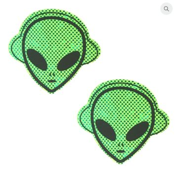 Kanye the Alien Green Holographic Pasties