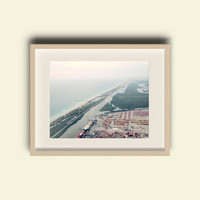 Beach Photography - FREE SHIPPING to USA fine art photo fort lauderdale south florida summer cloudy skies coastline view sea shore sea side