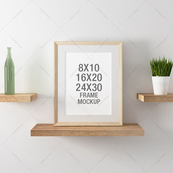 Poster Frame Photography Style / Frame Mockup / Poster Mockup/ wood frame / poster  mockup / 8x10