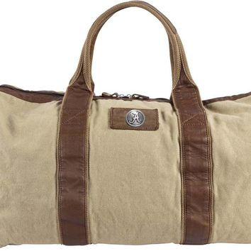 Canyon Outback Alabama Crimson Tide 21-inch Canvas and Leather Duffel Bag