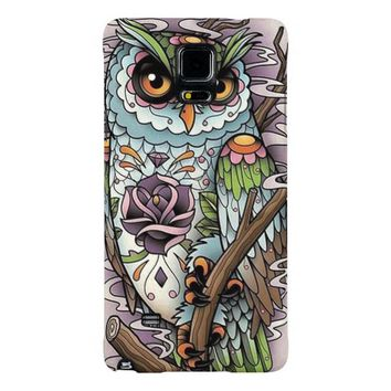 Day of the Dead Sugar Skull Owl Galaxy Note 4 Case