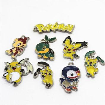 Hot Selling 10pcs Mix Random  Charm hanging dangle charms for bracelets necklace jewelry accessory pendants charmsKawaii Pokemon go  AT_89_9