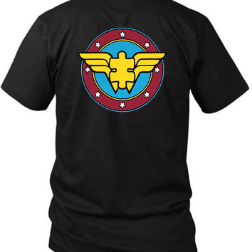 Funny Autism Awareness Support Puzzle Piece Spectrum 2 Sided Black Mens T Shirt