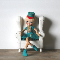 Holiday Fair Big Eye Pose Stockinette Doll Majorette Japan