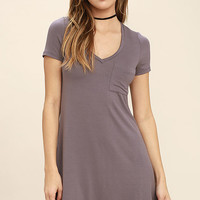 Better Together Dusty Purple Shirt Dress