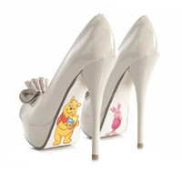 Custom hand painted Winnie the Pooh and Piglet Pumps